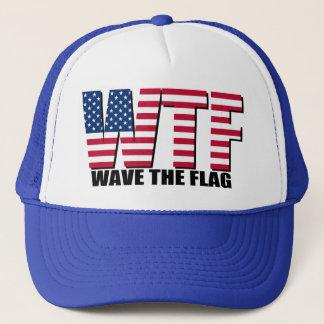Casquette Drôle 4 juillet, vague de WTF le drapeau