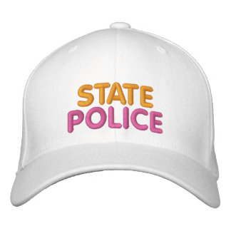 Casquette drôle brodé par police d'état de Boston