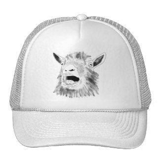 Casquette drôle d'art de nouveauté de chèvre