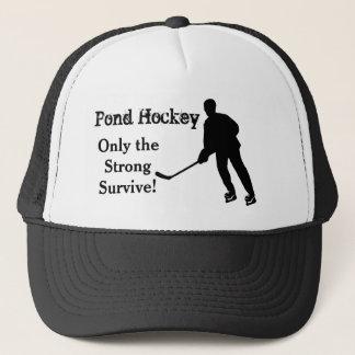 Casquette drôle de camionneur d'hockey d'étang