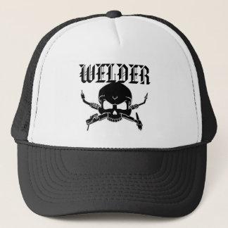 casquette du camionneur de la soudeuse
