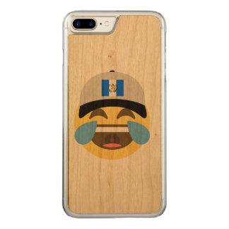 Casquette du Guatemala riant Emoji Coque Iphone 7 Plus En Bois
