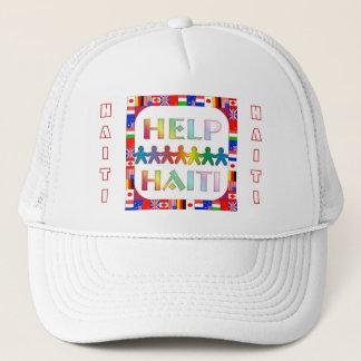 Casquette du Haïti de mains d'aide