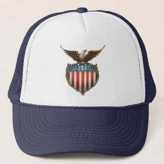 Casquette Eagle patriotique et chauve vintage avec le