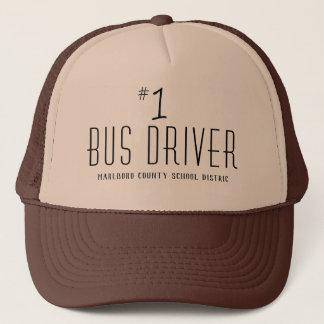 Casquette École ou chauffeur de bus du numéro un de nom de