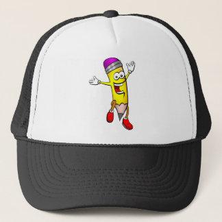 Casquette Écriture sautante heureuse d'école de crayon
