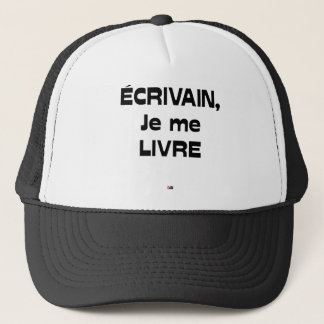 Casquette ÉCRIVAIN, je me LIVRE - Jeux de Mots