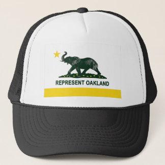 Casquette Éléphant (léger) 2 de drapeau d'état d'Oakland