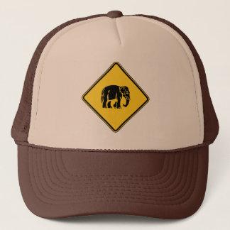 Casquette Éléphants de précaution croisant le ⚠ thaïlandais