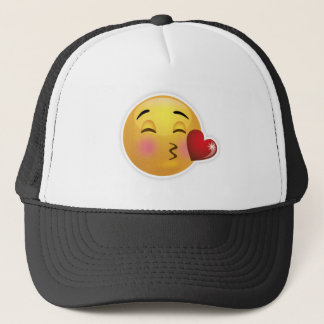Casquette emoji-baiser-visage