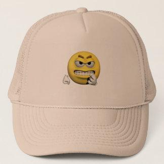 Casquette Émoticône fâchée jaune ou smiley