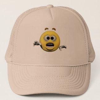 Casquette Émoticône jaune ou smiley de crainte