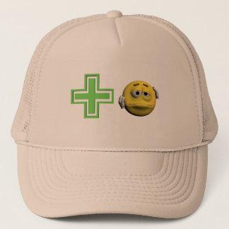 Casquette Émoticône malade jaune ou smiley