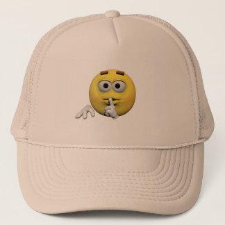 Casquette Émoticône tranquille jaune ou smiley