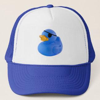 Casquette en caoutchouc de canard de pirate bleu