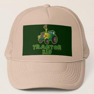 Casquette Enfant vert de tracteur