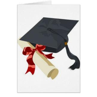 Casquette et diplôme d'obtention du diplôme carte de vœux