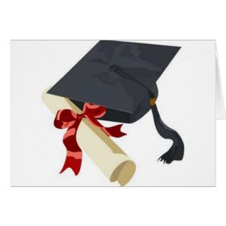 Casquette et diplôme d'obtention du diplôme cartes