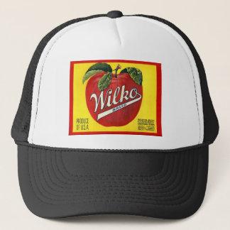 Casquette Étiquette vintage de pommes de marque de Wilko