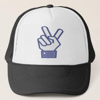 Casquette Facebook aiment le signe de paix