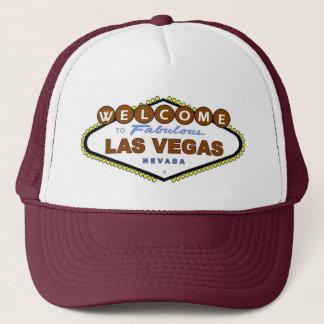 Casquette Faites bon accueil à Las Vegas fabuleux Brown au