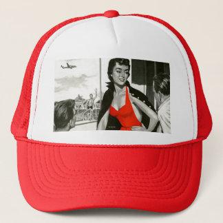 Casquette Femme d'un rouge ardent