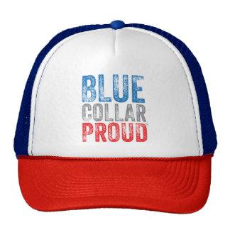Casquette fier de camionneur de collier bleu