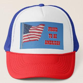 Casquette Fier d'être américain avec le drapeau