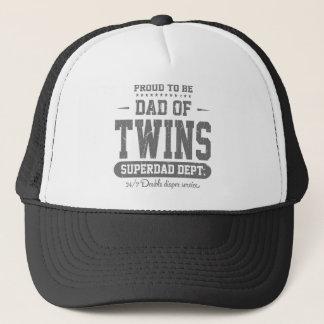 Casquette Fier d'être papa de service de Superdad de jumeaux