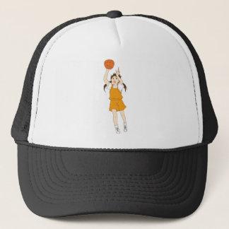 Casquette Fille jouant au basket-ball