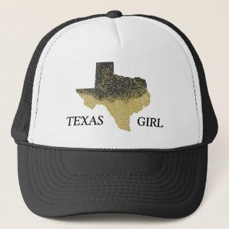 Casquette Fille noire du Texas de confettis d'or