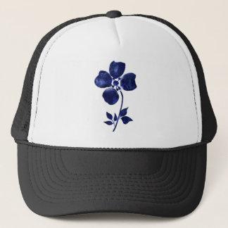 Casquette Fleur bleue