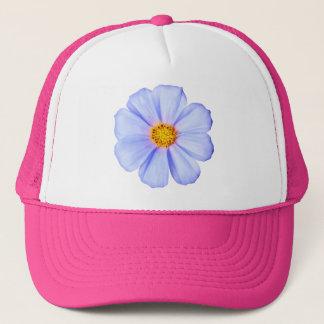 Casquette Fleur bleue - modèle customisé de marguerites de