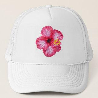 Casquette fleur rose blanche rouge de ketmie aloha
