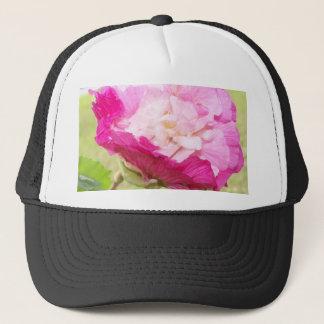 Casquette fleur variable de rose et blanche de ketmie