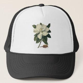 Casquette Fleurs blanches de floraison de fleur de magnolia