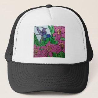 Casquette Fleurs d'oiseau de ronflement