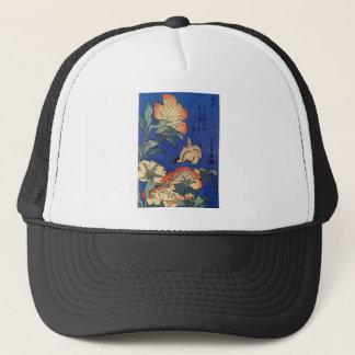 Casquette Fleurs et un oiseau
