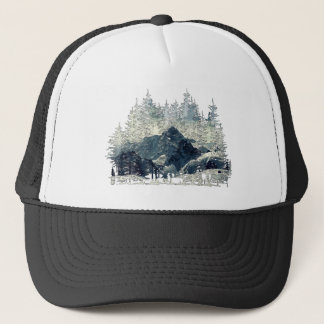 Casquette Forêt d'hiver