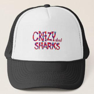 Casquette Fou au sujet des requins