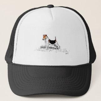 Casquette Fox Terrier se tenant fier