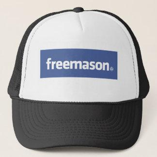 Casquette Franc-maçon, logo de style de Facebook avec petit