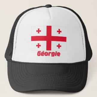 Casquette Français de Drapeau Géorgie avec le nom en
