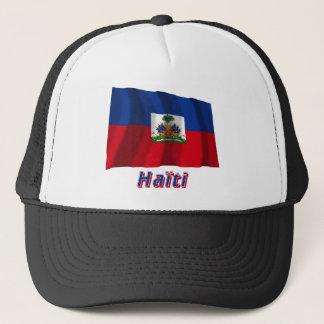 Casquette Français de Drapeau Haïti avec le nom en