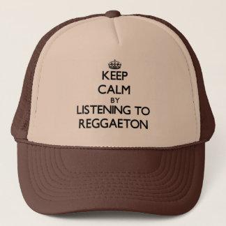 Casquette Gardez le calme en écoutant REGGAETON