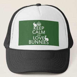 Casquette Gardez le calme et aimez les lapins - toutes les