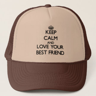 Casquette Gardez le calme et aimez votre meilleur ami