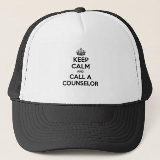 Casquette Gardez le calme et appelez un conseiller