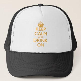 Casquette Gardez le calme et buvez dessus