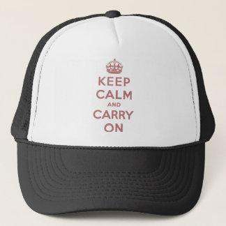 Casquette Gardez le calme et continuez